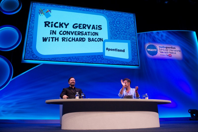 Ricky Gervais in conversation with Richard Bacon