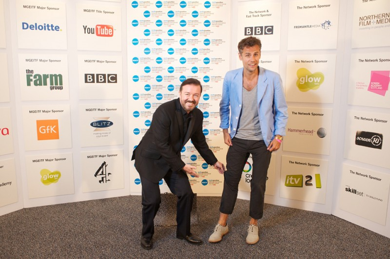 Ricky Gervaise and Richard Bacon